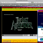 "Google sponsored ad on a stream of ""The Last Airbender"""
