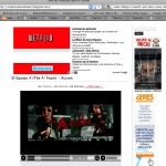 Netflix ad (along with other Google AdSense ads)