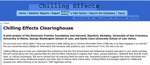 Chilling Effects Website